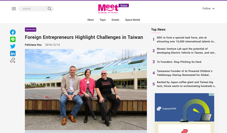 Business Next: Foreign Entrepreneurs Highlight Challenges in Taiwan